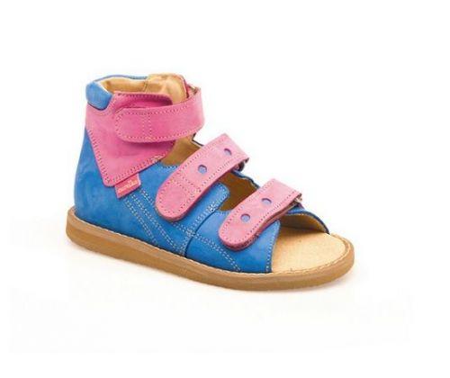 Sandale ortopedice medicinale pentru copii cu scai AURELKA culoare roz