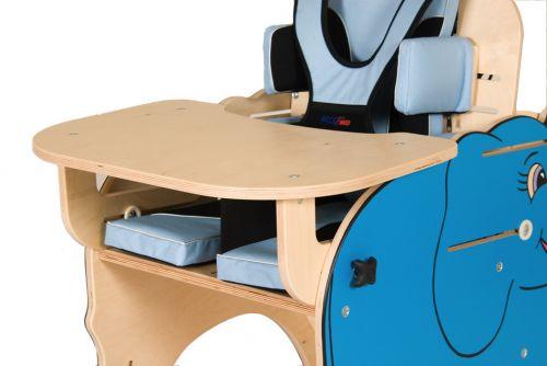 Masă pentru lucru pentru scaun terapeutic Jumbo pentru copii cu dizabilități.