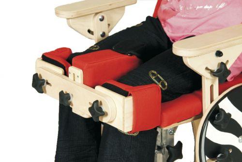 Stabilizatoare pentru genunchi pentru scaun terapeutic ZEBRA pentru copii cu dizabilități