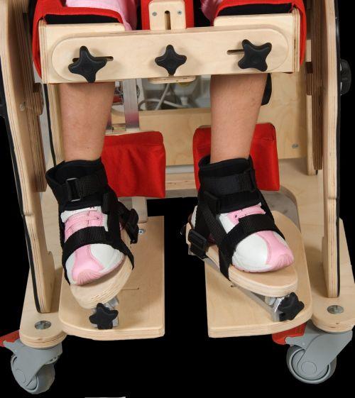 Suporturi treidimensiuni pentru picioare pentru scaun terapeutic ZEBRA pentru copii cu dizabilități