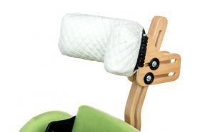Suport de cap cu învelitoare din bumbac pentru verticalizator