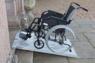 Rampa mobila pliabila 244 cm pentru scaun cu rotile si persoane handicap din aluminiu