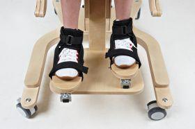 Treidimensiuni  suporturi pentru picioare pentru verticalizator Pisică  pentru copii cu dizabilități