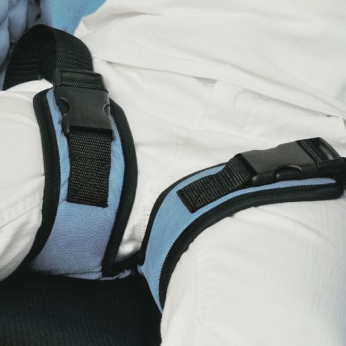 Thigh abduction belts for rehabilitation chair