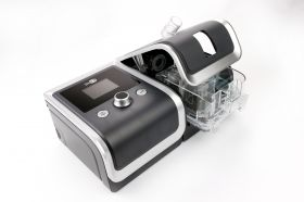 Auto CPAP device BMC RESmart with heated humidifier InH2 GII and nasal mask iVolve