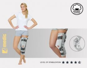 Lower limb brace with splints and reinforcement ACL EB-SKL/2RA